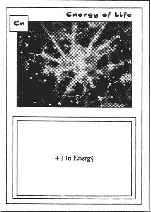 Scan of 'Energy of Life' playtest card
