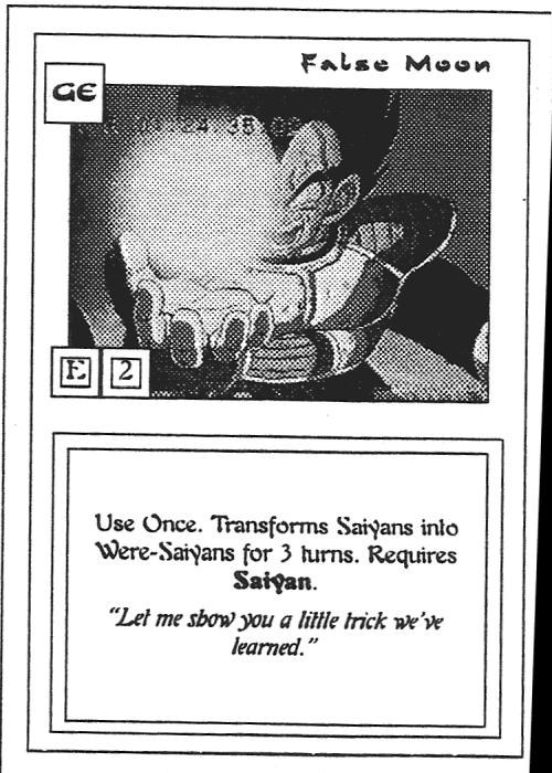 Scan of 'False Moon' playtest card