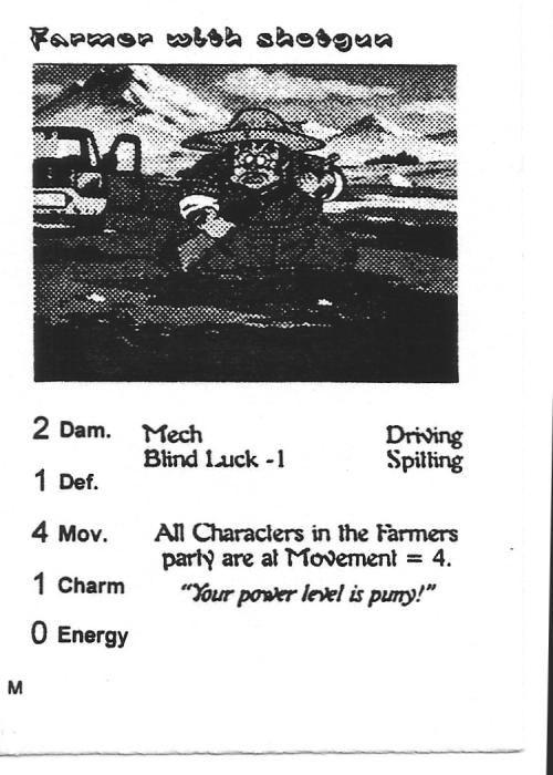 Scan of 'Farmer with shotgun' playtest card