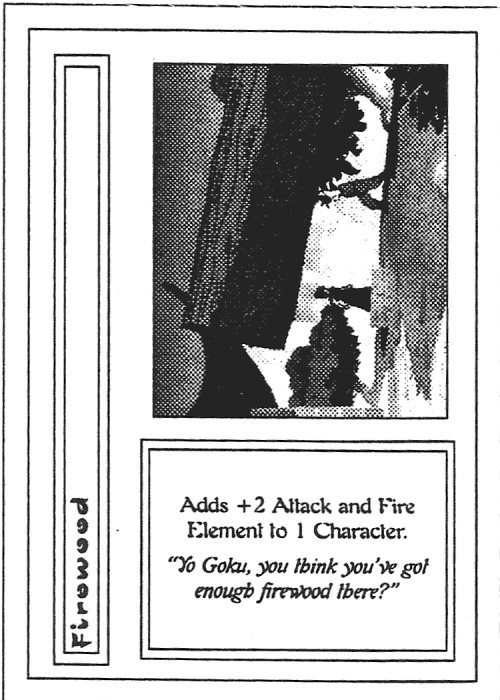Scan of 'Firewood' playtest card