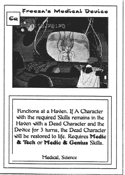 Scan of 'Freeza's Medical Device' playtest card