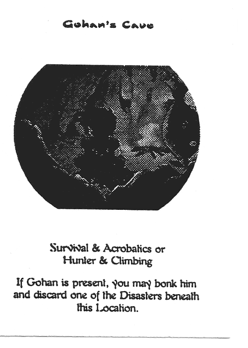 Scan of 'Gohan's Cave' playtest card