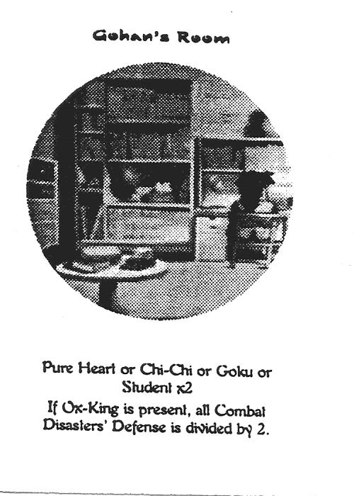 Scan of 'Gohan's Room' playtest card