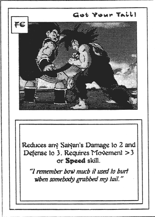 Scan of 'Got Your Tail!' playtest card