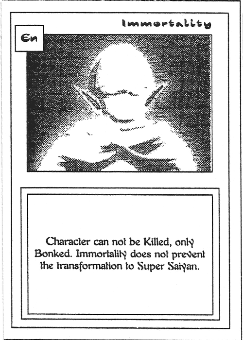 Scan of 'Immortality' playtest card