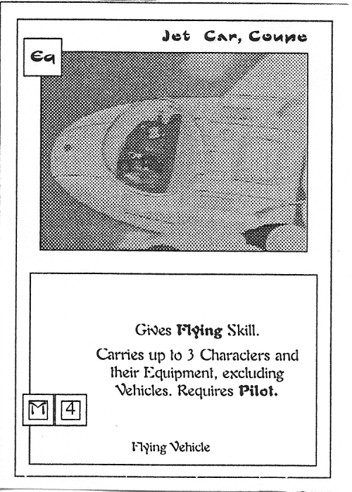 Scan of 'Jet Car, Coupe' playtest card