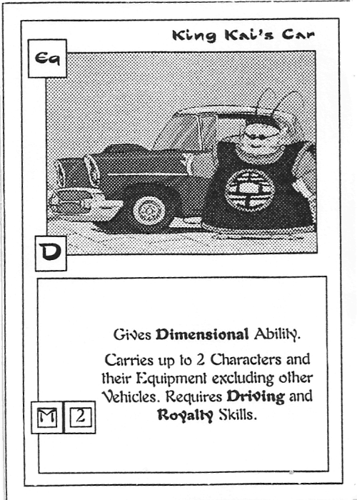 Scan of 'King Kai's Car' playtest card