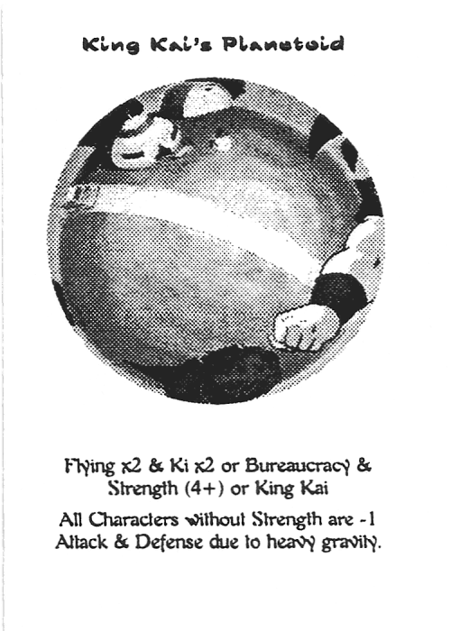 Scan of 'King Kai's Planetoid' playtest card