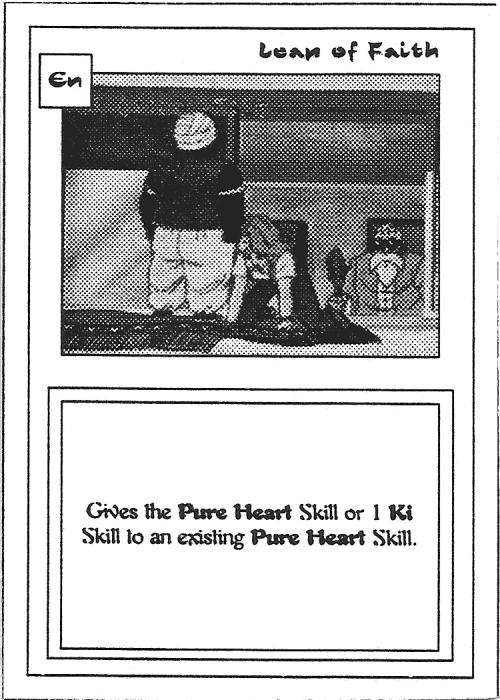 Scan of 'Leap of Faith' playtest card