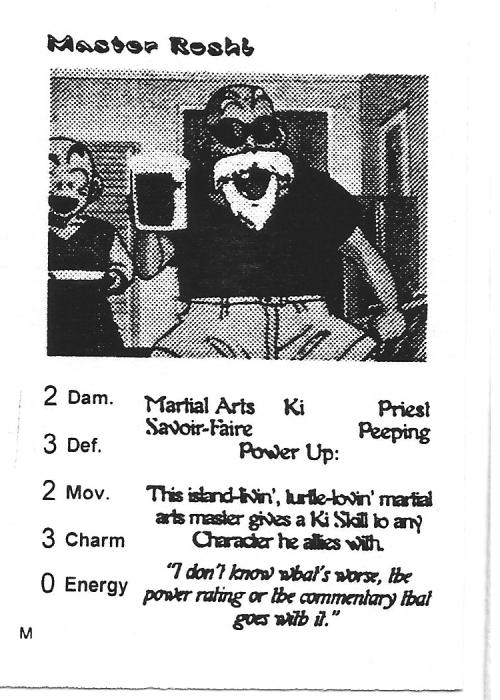 Scan of 'Master Roshi' playtest card