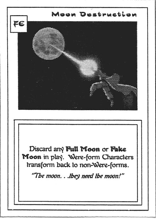 Scan of 'Moon Destruction' playtest card