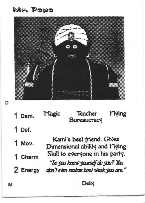 Scan of 'Mr. Popo' playtest card