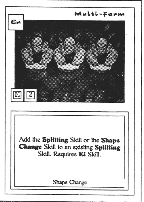 Scan of 'Multi-Form' playtest card