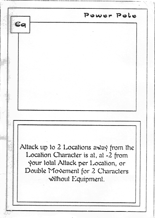 Scan of 'Power Pole' playtest card