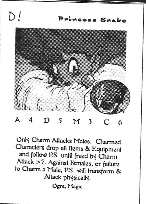 Scan of 'Princess Snake' playtest card