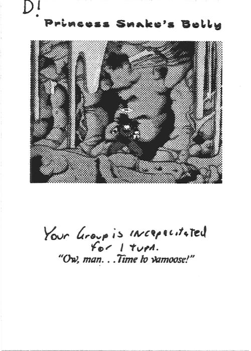 Scan of 'Princess Snake's Belly' playtest card