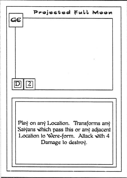 Scan of 'Projected Full Moon' playtest card
