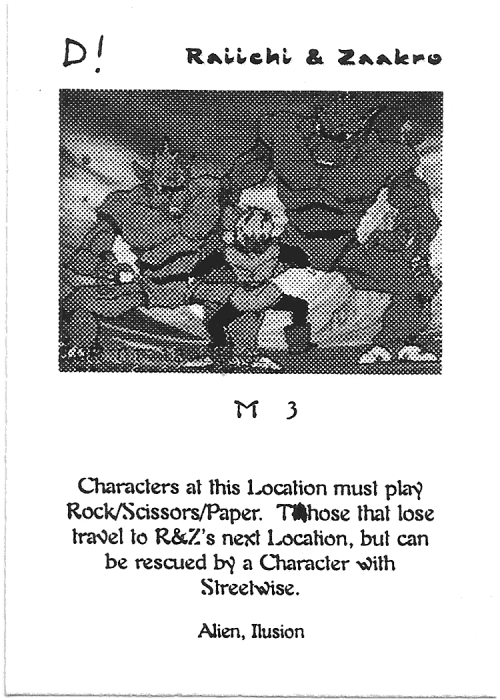 Scan of 'Raiichi & Zaakro' playtest card