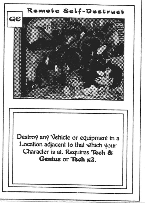 Scan of 'Remote Self-Destruct' playtest card