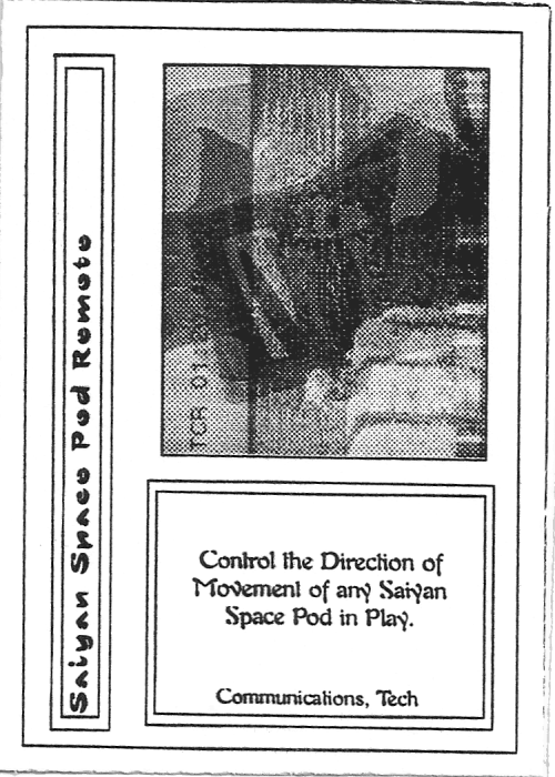 Scan of 'Saiyan Space Pod Remote' playtest card