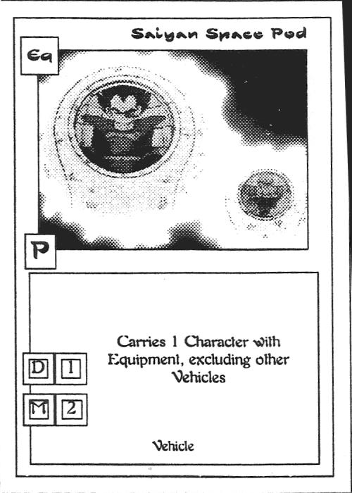 Scan of 'Saiyan Space Pod' playtest card