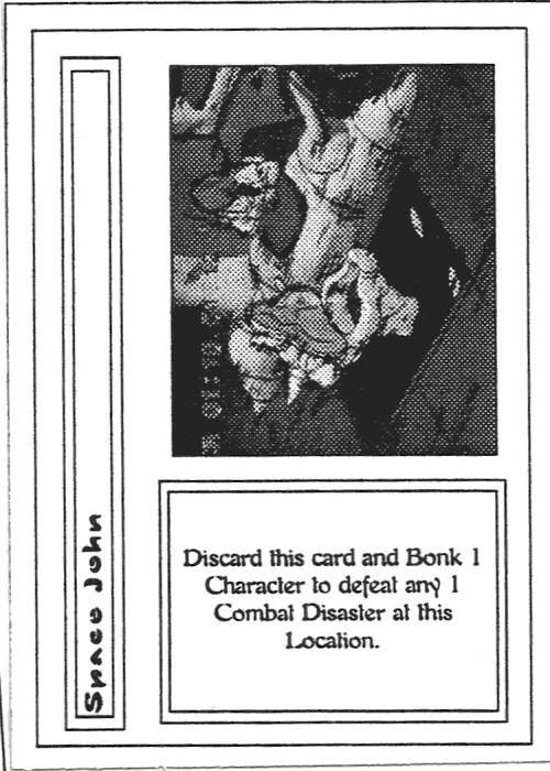 Scan of 'Space John' playtest card