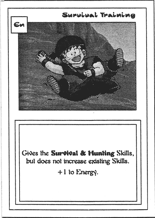 Scan of 'Survival Training' playtest card