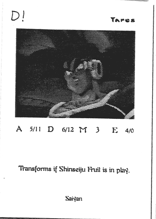 Scan of 'Tares' playtest card