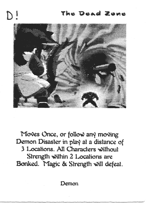 Scan of 'The Dead Zone' playtest card