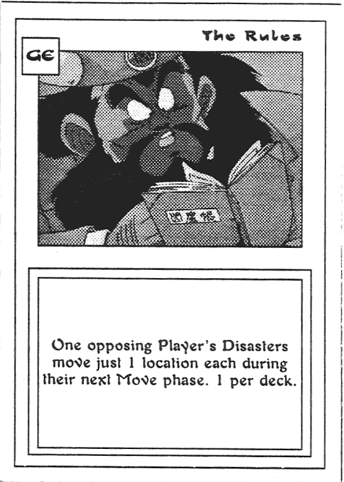 Scan of 'The Rules' playtest card