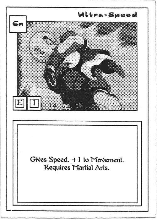 Scan of 'Ultra-Speed' playtest card