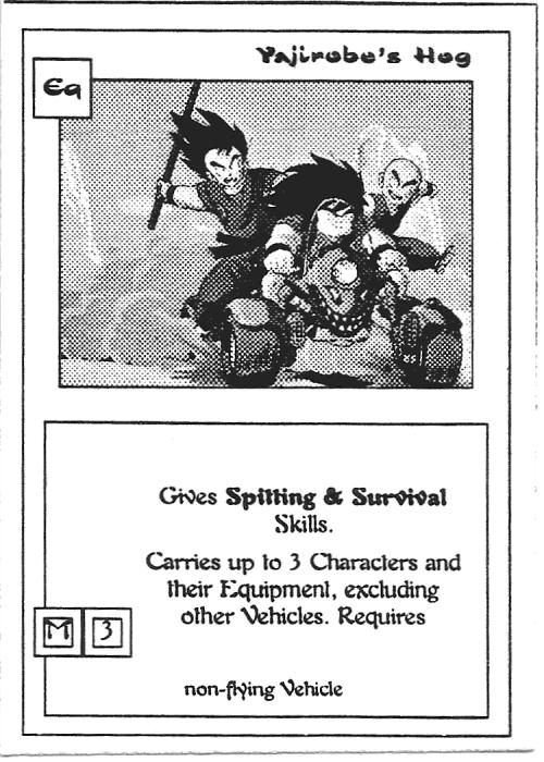 Scan of 'Yajirobe's Hog' playtest card