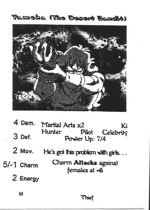 Scan of 'Yamcha (The Desert Bandit)' playtest card