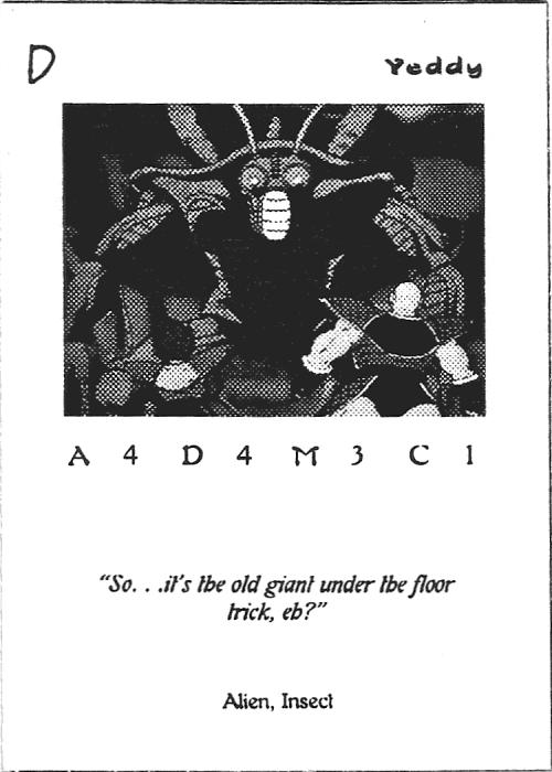 Scan of 'Yeddy' playtest card