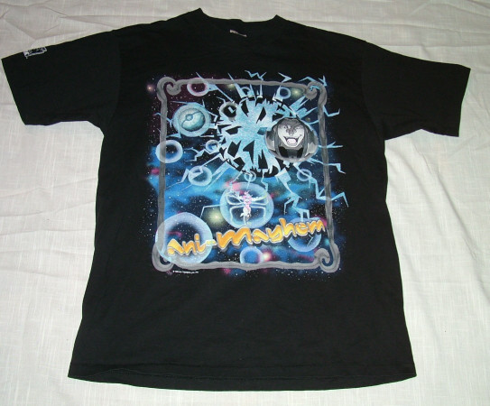The front of the promotional t-shirt