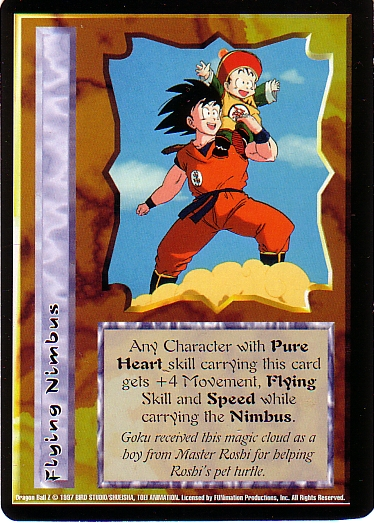 Misprinted Flying Nimbus card, image is backwards.