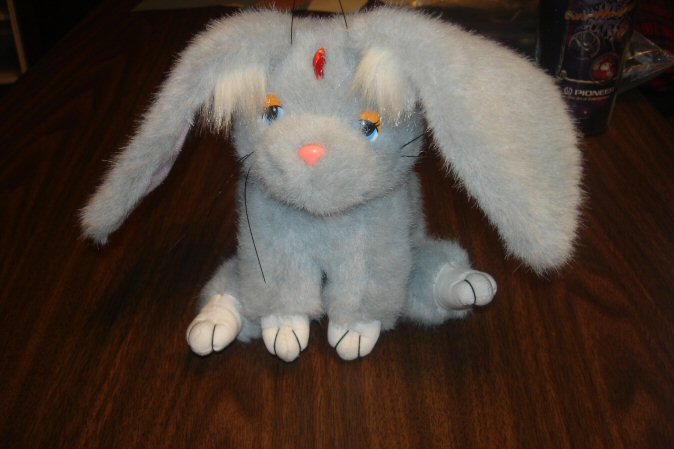 Soft, gray plush of Ryo-Ohki